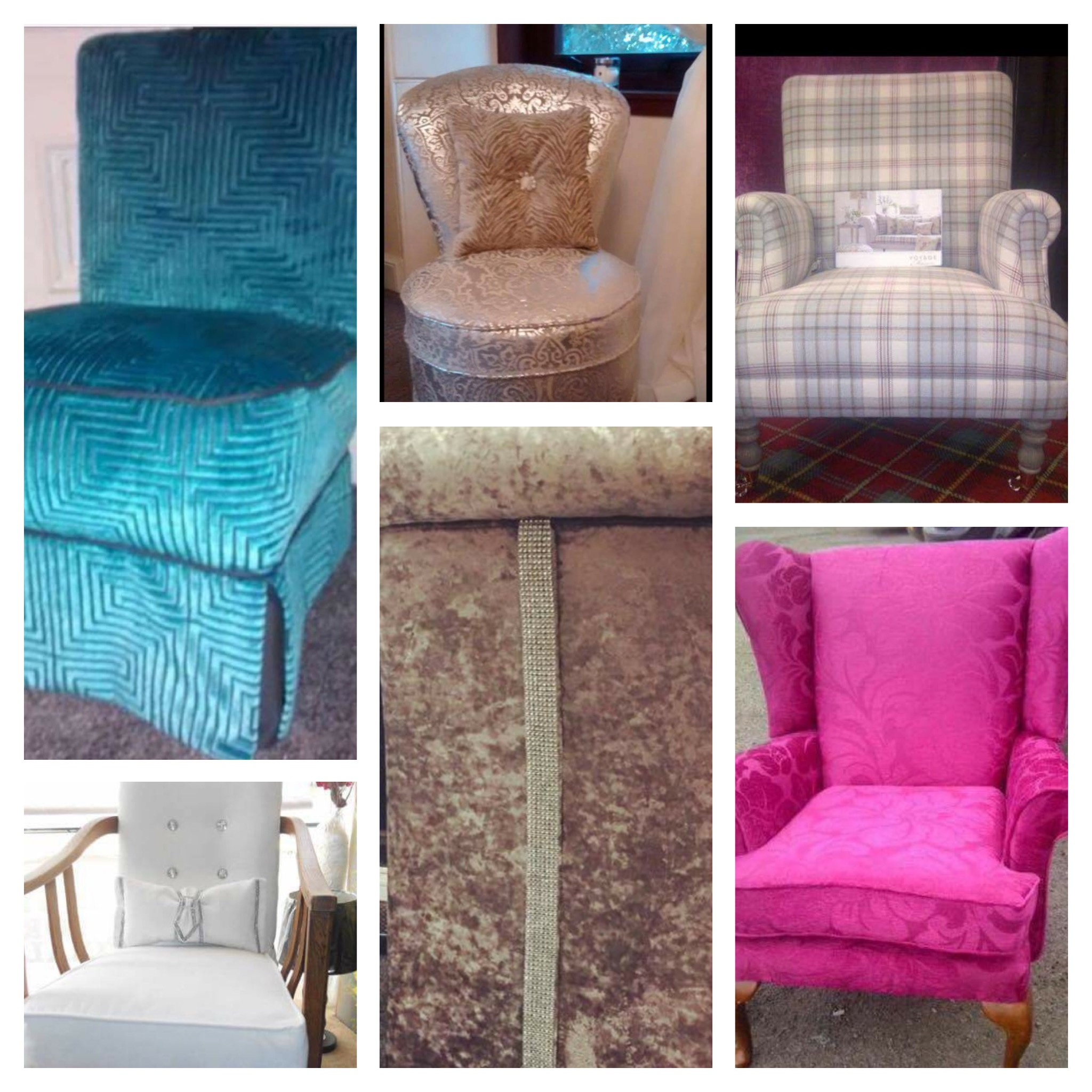 A selection of different styls of furniture - all looking fabulous