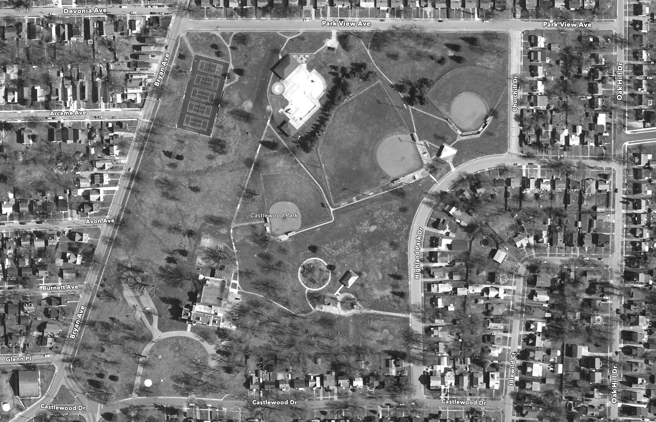 Castlewood Park - Current Aerial Image courtesy: Google Maps