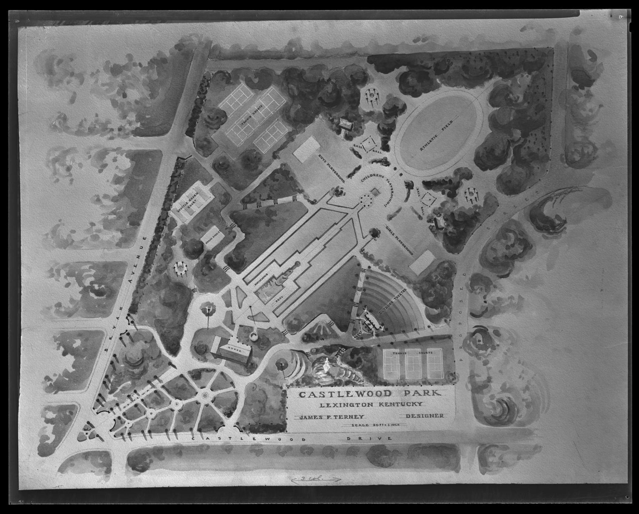 Castlewood Park - Original Design courtesy: Kentucky Digital Library
