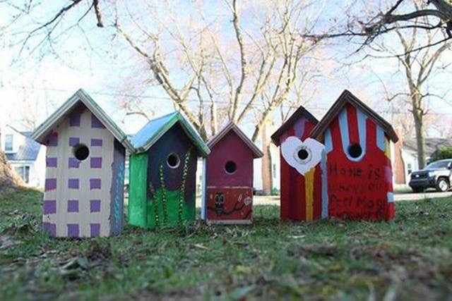 CETA's Birdhouses. C  ourtesy: Lexington Herald-Leader