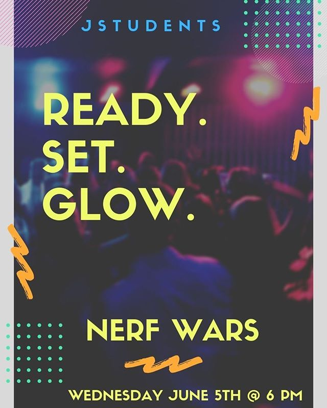 T O N I G H T // 6 PM . . . N e r f  W a r s  Bring a Nerf Weapon if you have one.  Invite your friends.
