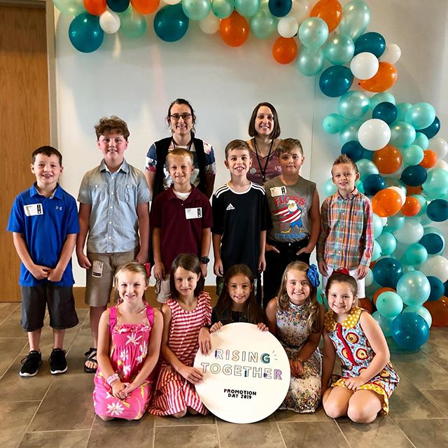 P R O M O T I O N  D A Y was a blast!! 🎈 love seeing new and familiar faces ready for a new year! We are praying this is a great week of memories and sweet moments together. Praying as you embrace new phases to enjoy each new thing together. We are here for you and for you, parents! Here's to a great week! #risingtogether #journeykids