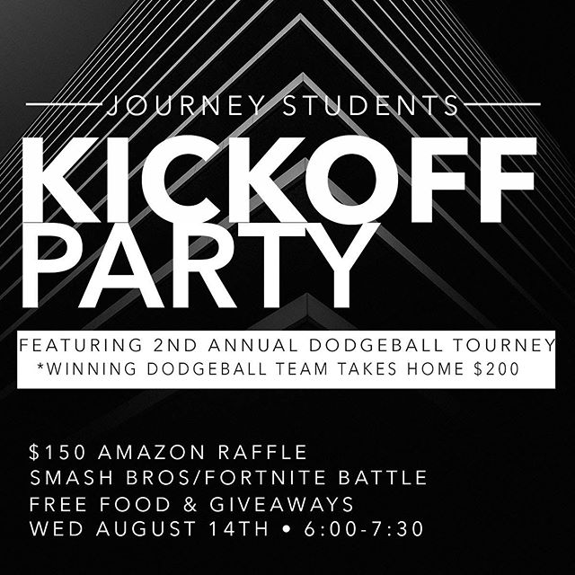 JSTUDENTS is T-minus 24 Hours until our Back to School Kickoff Party. 🔥 Featuring the 2nd Annual Dodgeball Tourney with $200 up for grabs,  assemble your teams and get ready to battle!! Free food, giveaways & Shenanigans  at 6:00pm  #jstudents #bringafriend