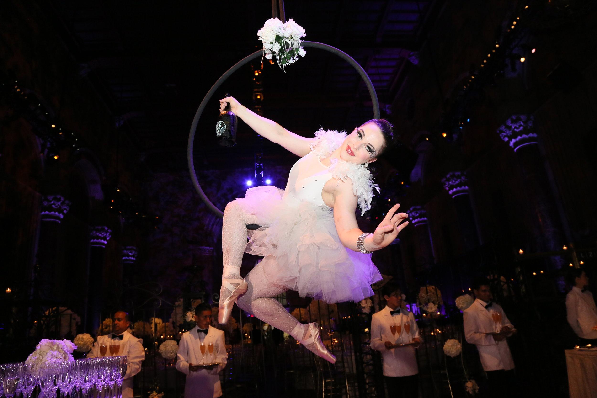 Cirque Central Aerial Champagne Cipriani Wedding .JPG