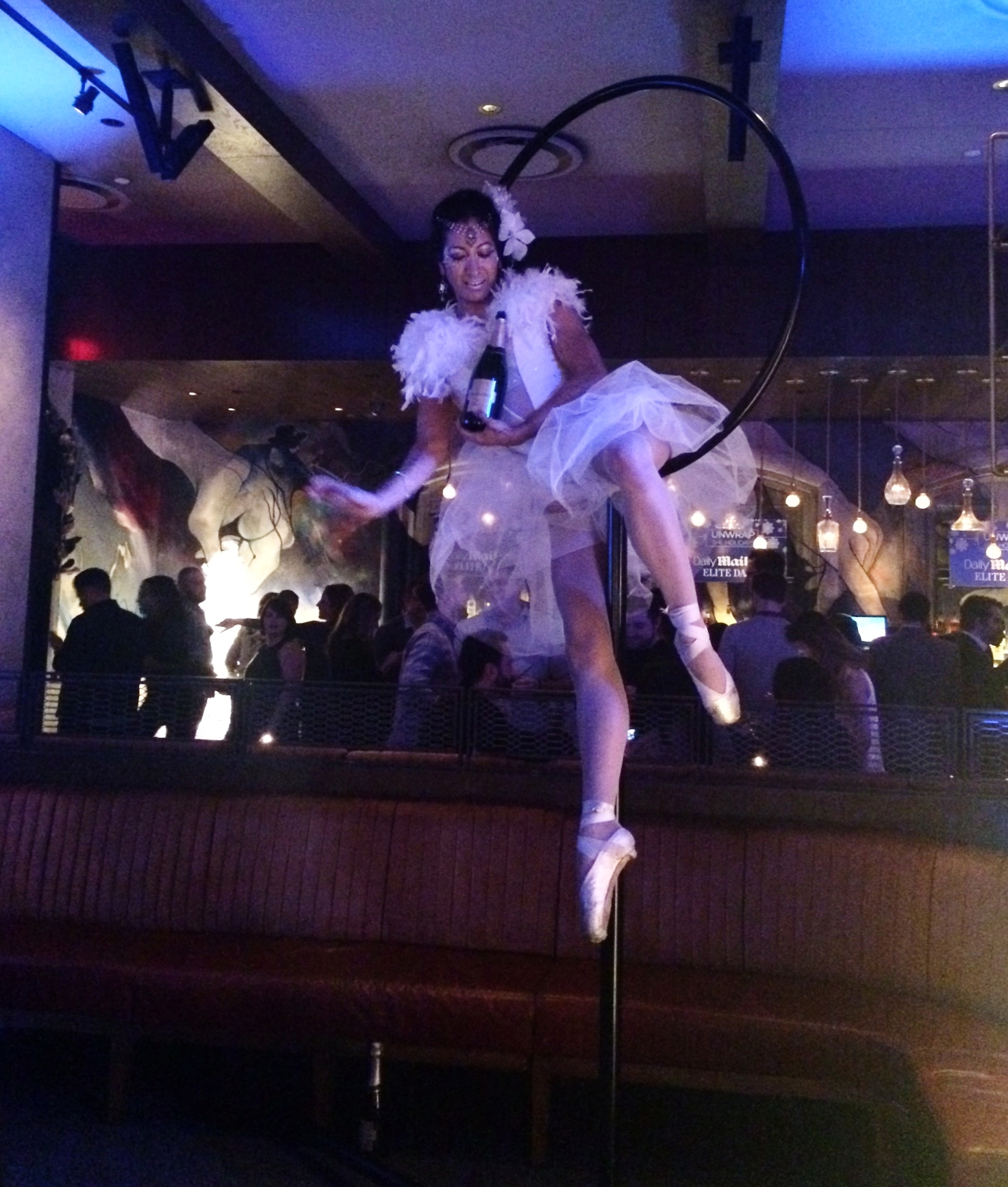 Aerial Ballerina for Daily Mail Holiday Party