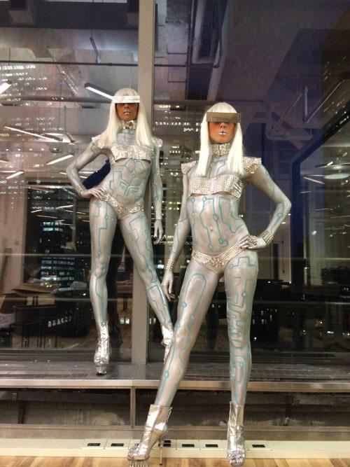 body painted cyber gaga robot models.jpg