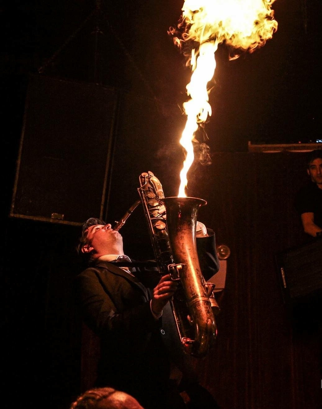 Fire Saxophone Player!