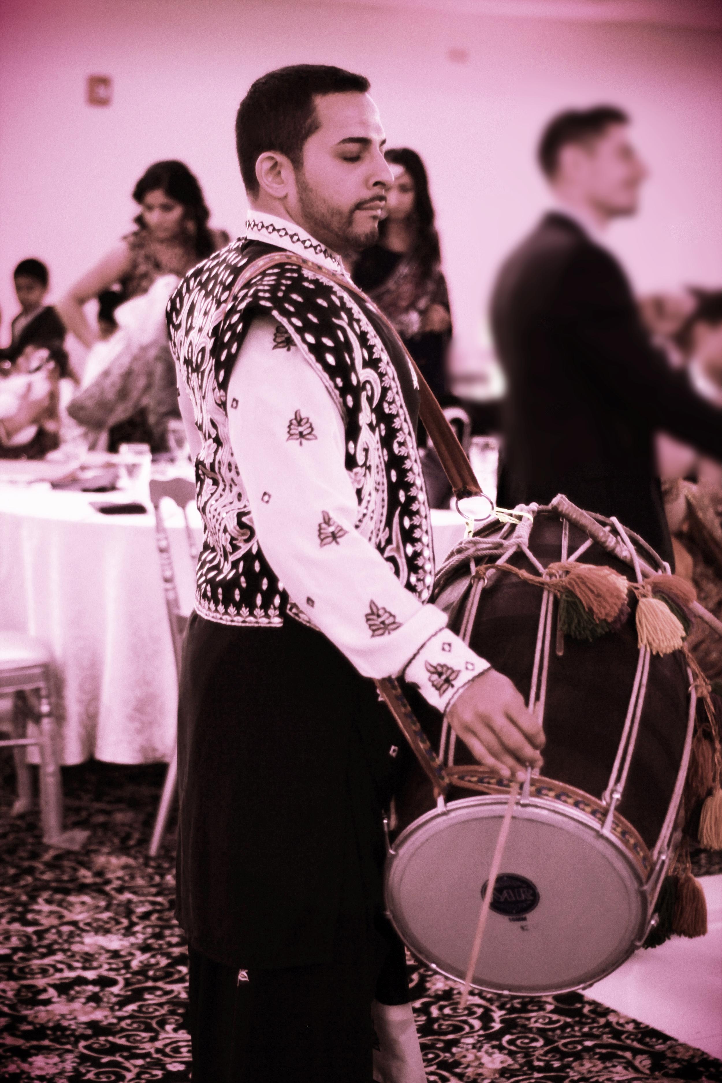 Dhol Drummer - Wedding Reception