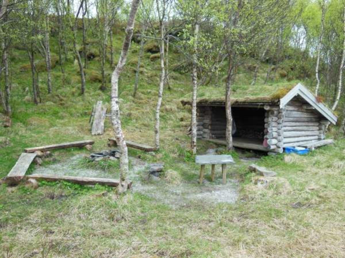 Einesvika - Vanskelighetsgrad: EnkelTid: ca. 1 t.Startsted: Nedenfor jakthytta på Bø, Igerøy. En liten avstikker leder til gapahuken i Gåsvika.