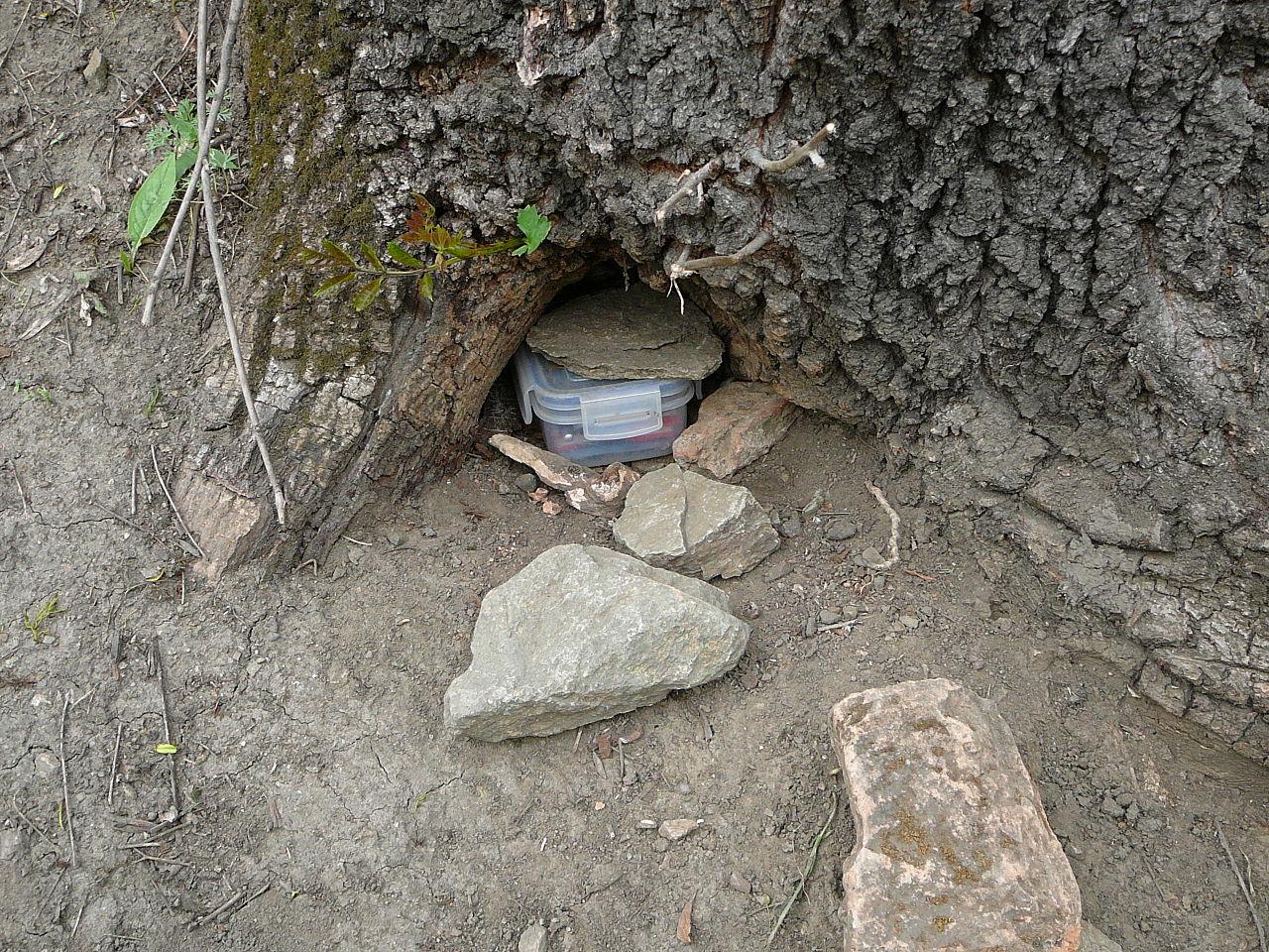 Typisk gjemmested for en cache.