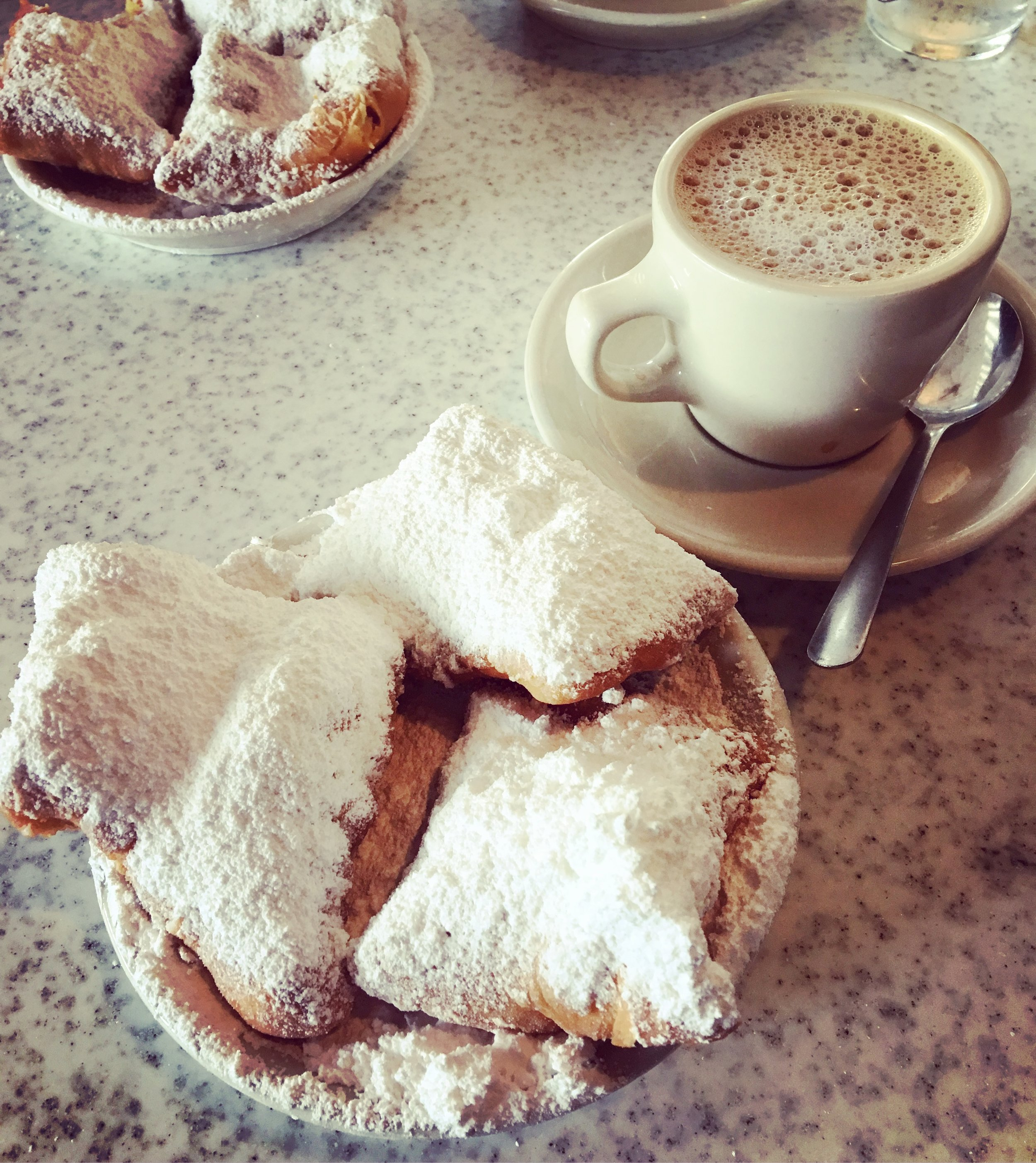 Beignets, of course, at Cafe Du Monde