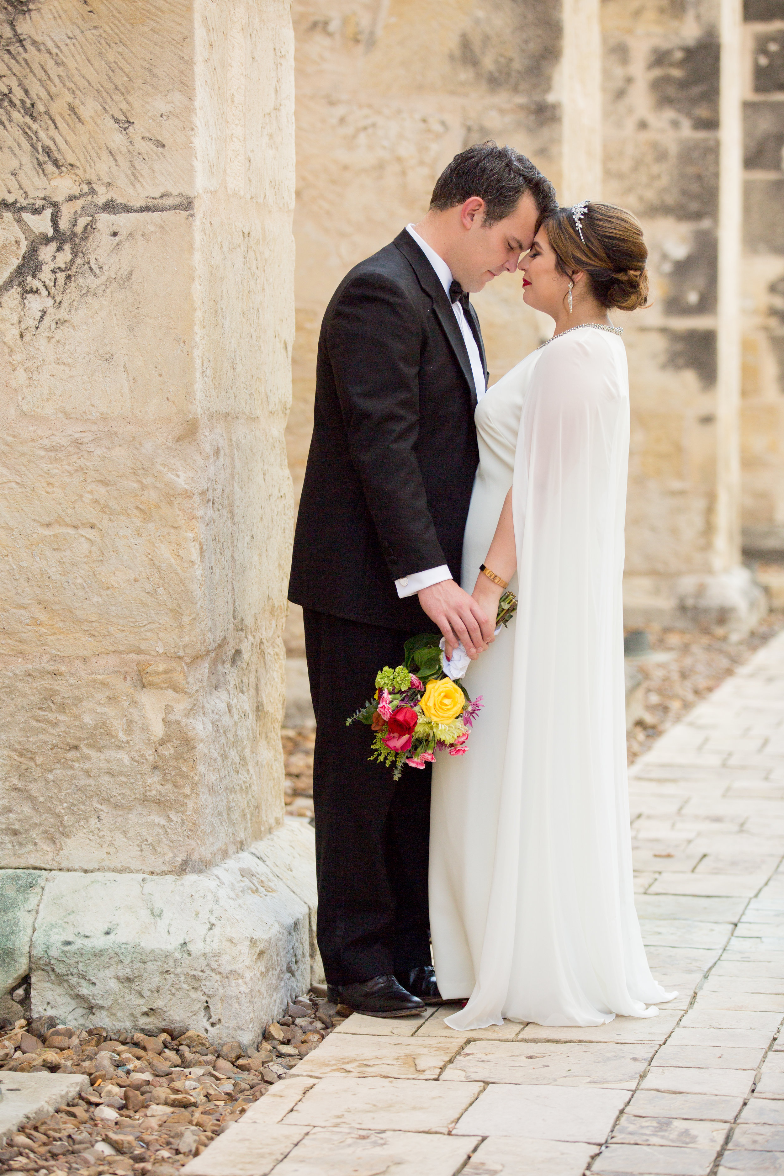 A private moment, captured by our amazing photographer, Aria Productions. Taking in the newlywed moment.