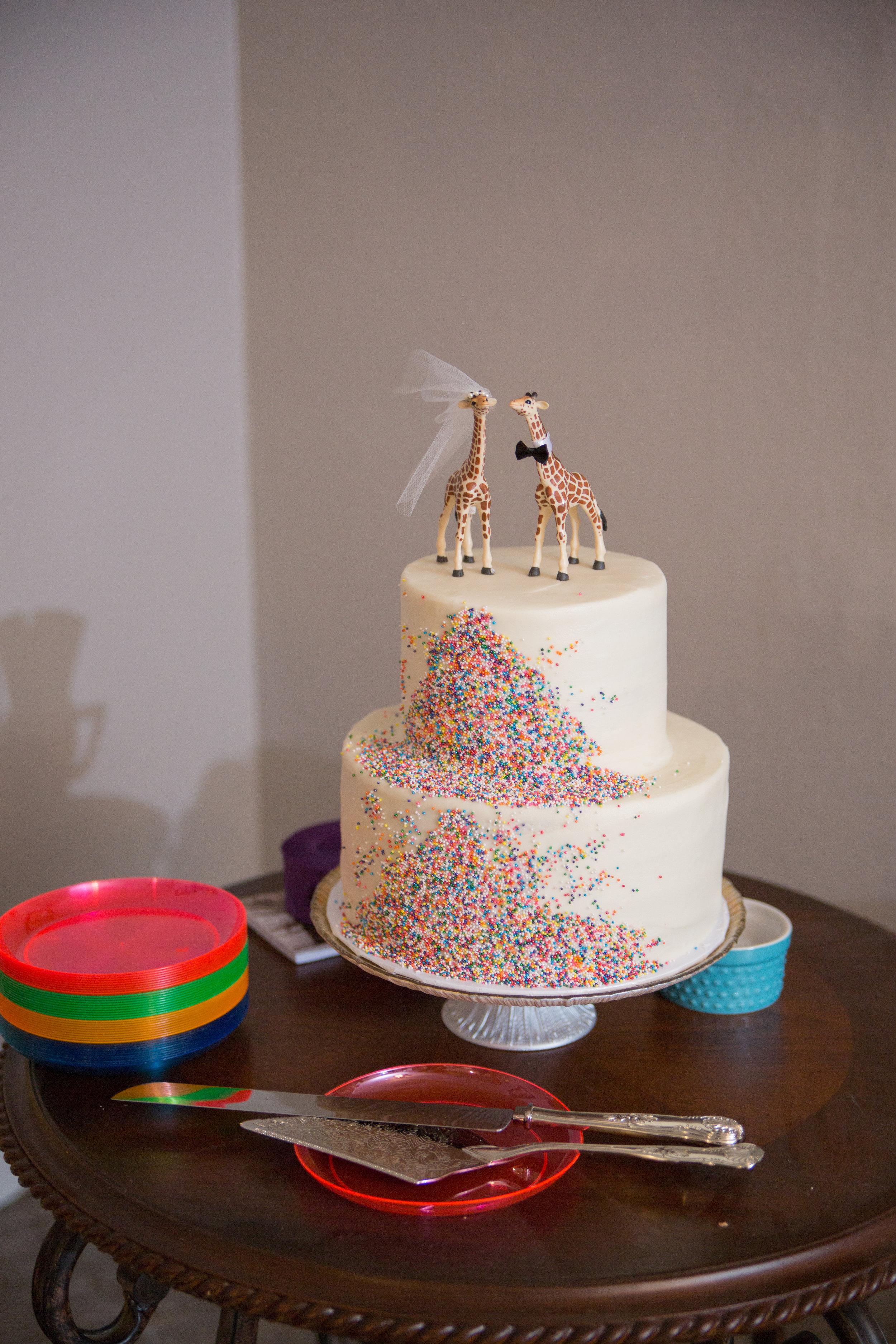 Our Fiesta funfetti cake from Bird Bakery!