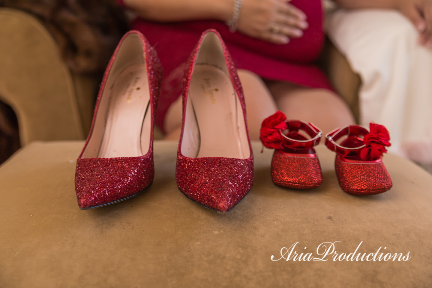 Mommy & me shoes. Mine are Kate Spade, worn on our wedding day!
