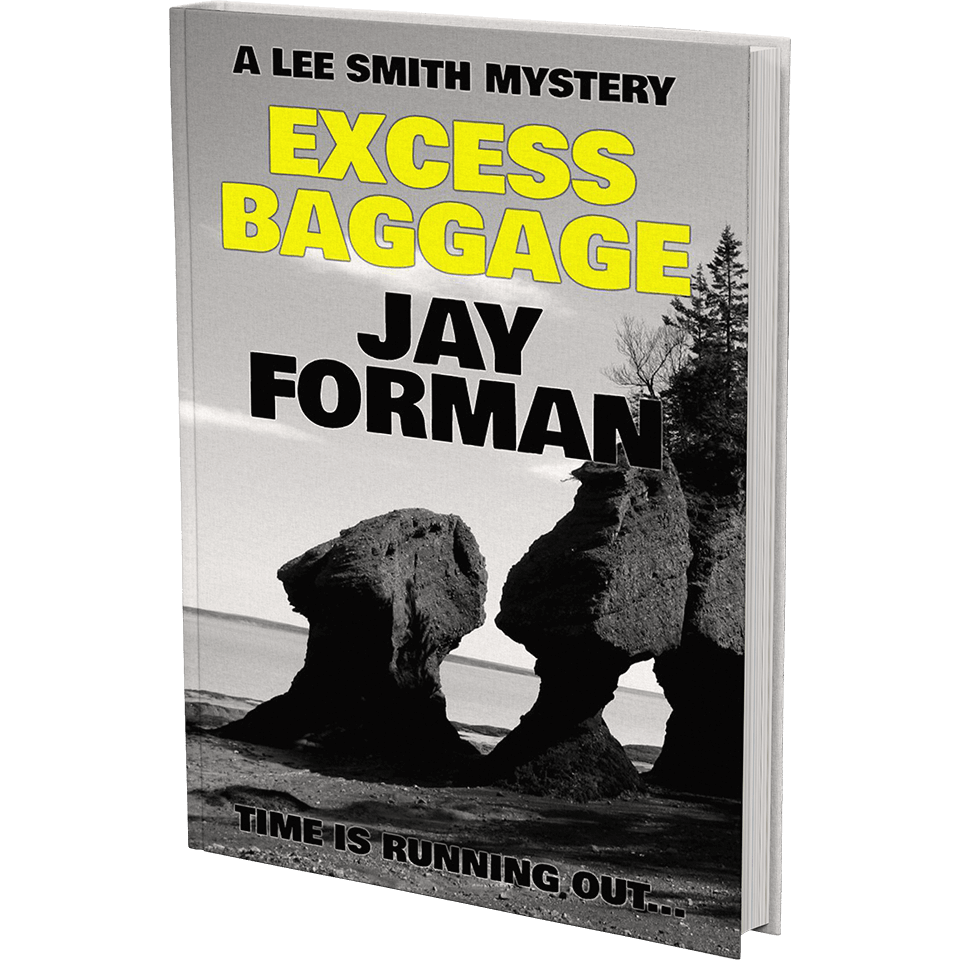 """Cover image for """"Excess Baggage"""" - From the Lee Smith Mystery series by Jay Forman."""