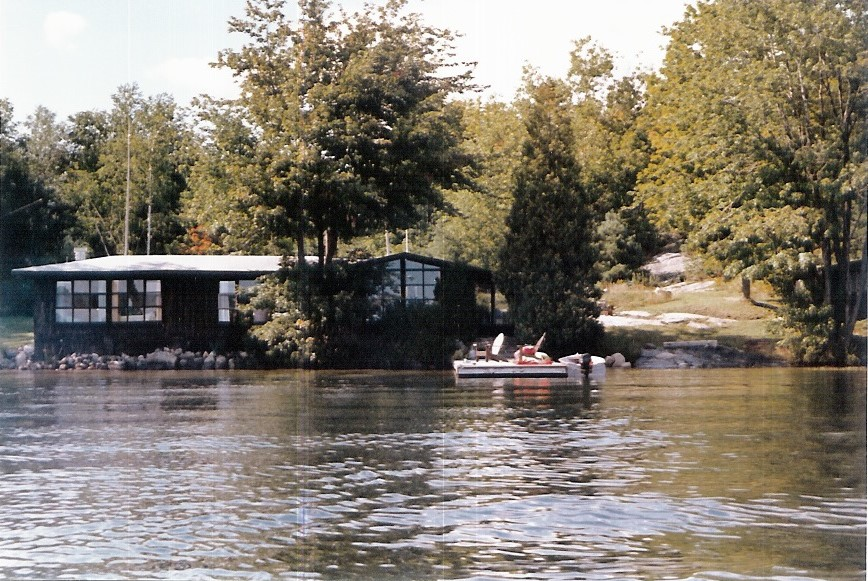 Cottage as seen from the lake