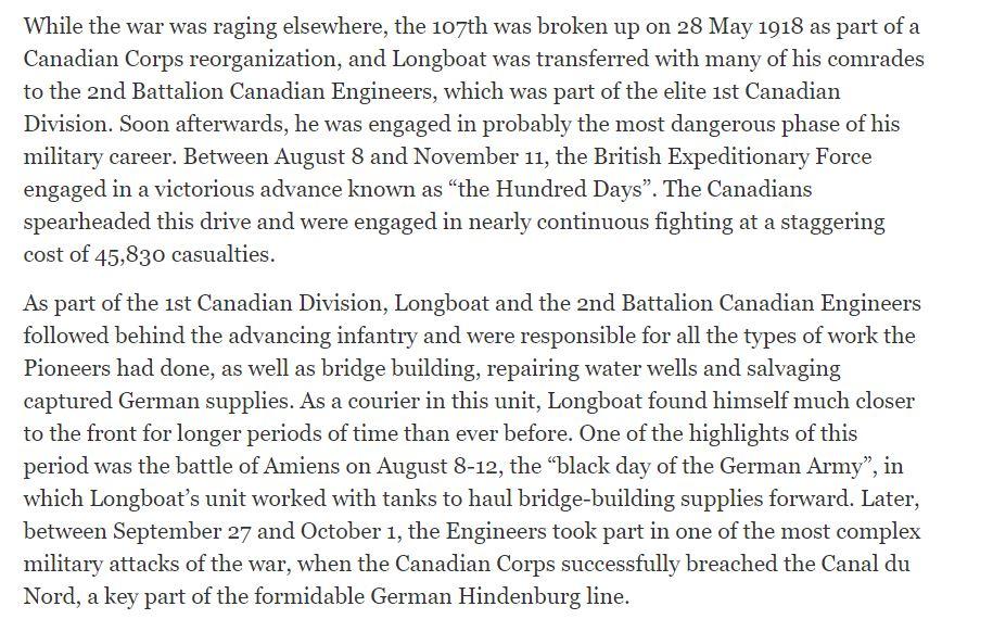 Description of 2nd Battalion Canadian Engineers WWI.JPG
