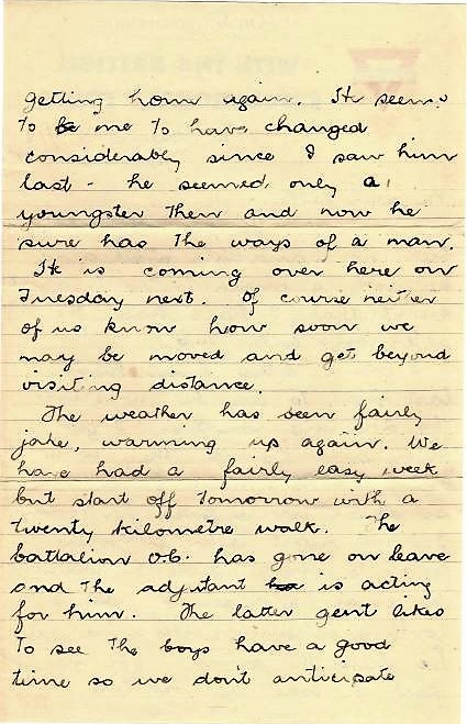 Hand written letter - page 2