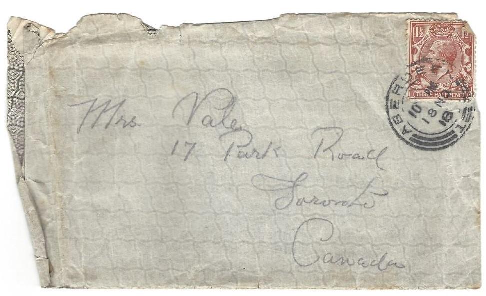 Envelope of letter