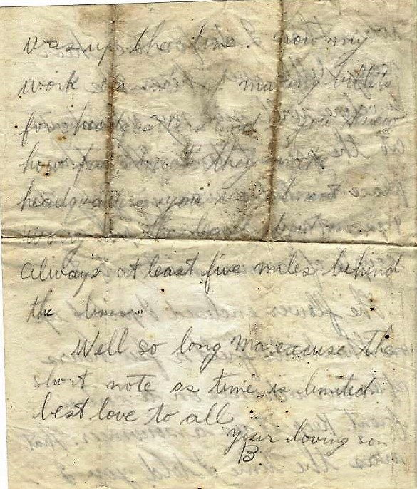 4th page of letter