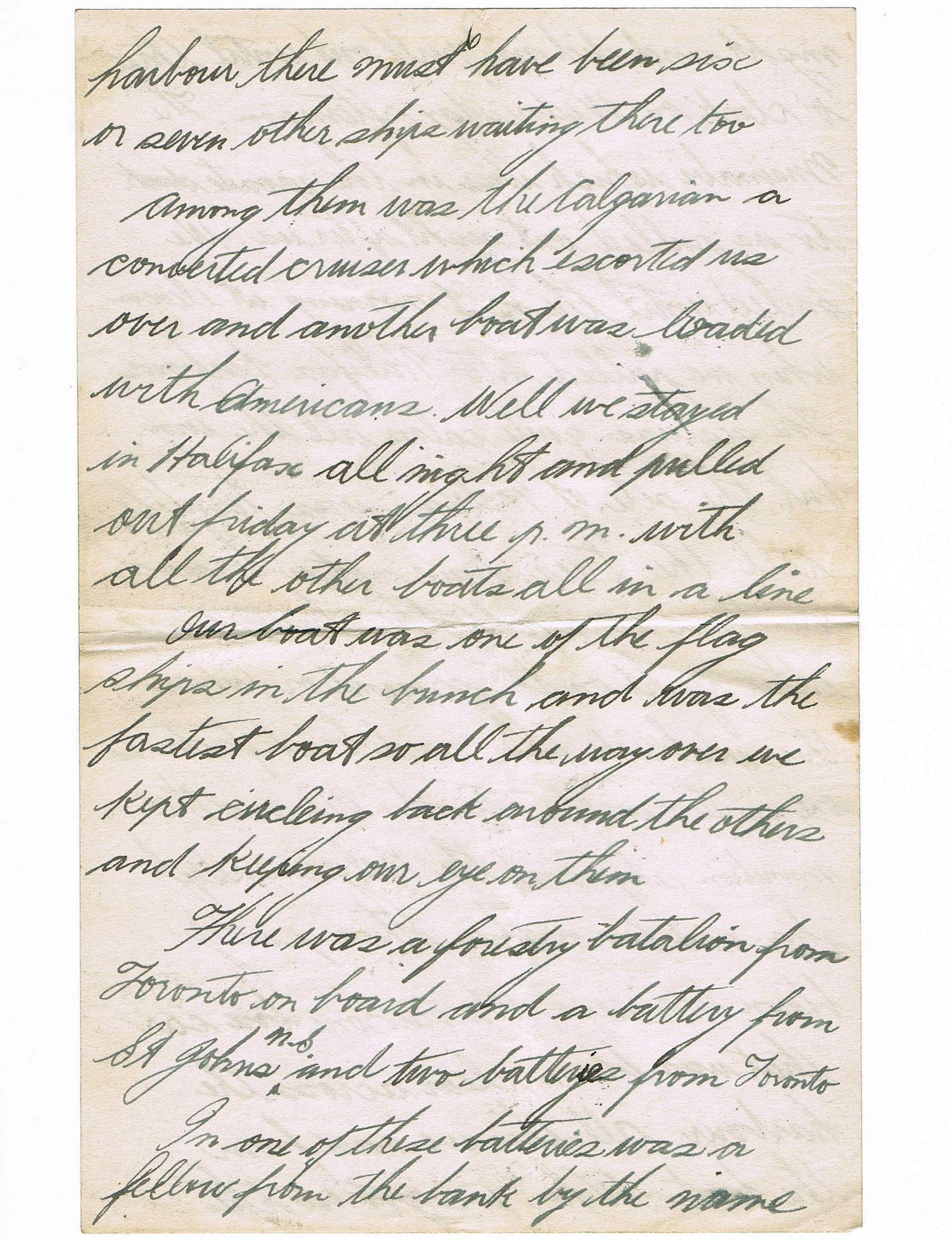 Sixth page of handwritten letter
