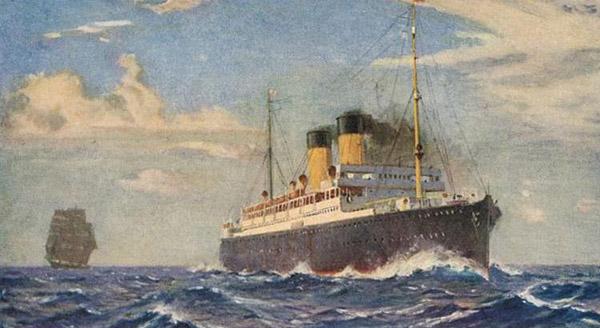 RMS Missanabie (Torpedoed by U-boat U-87 and sunk September 9, 1918.)