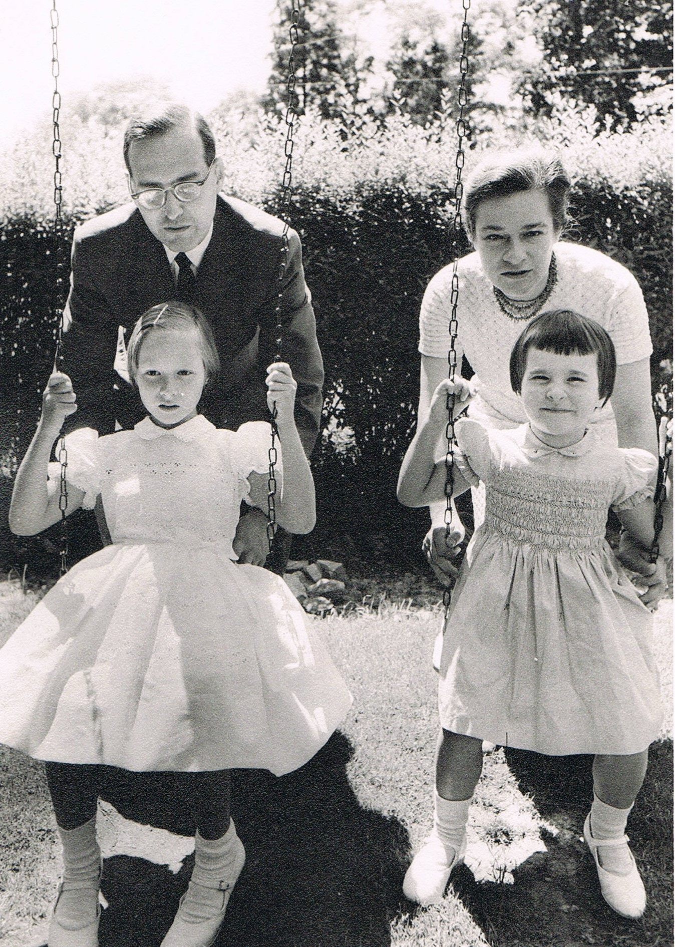 Doctors Dayton Forman and Joan Vale with their daughters in the 1960s. (That bowl cut really suited my round head – said no one ever.)