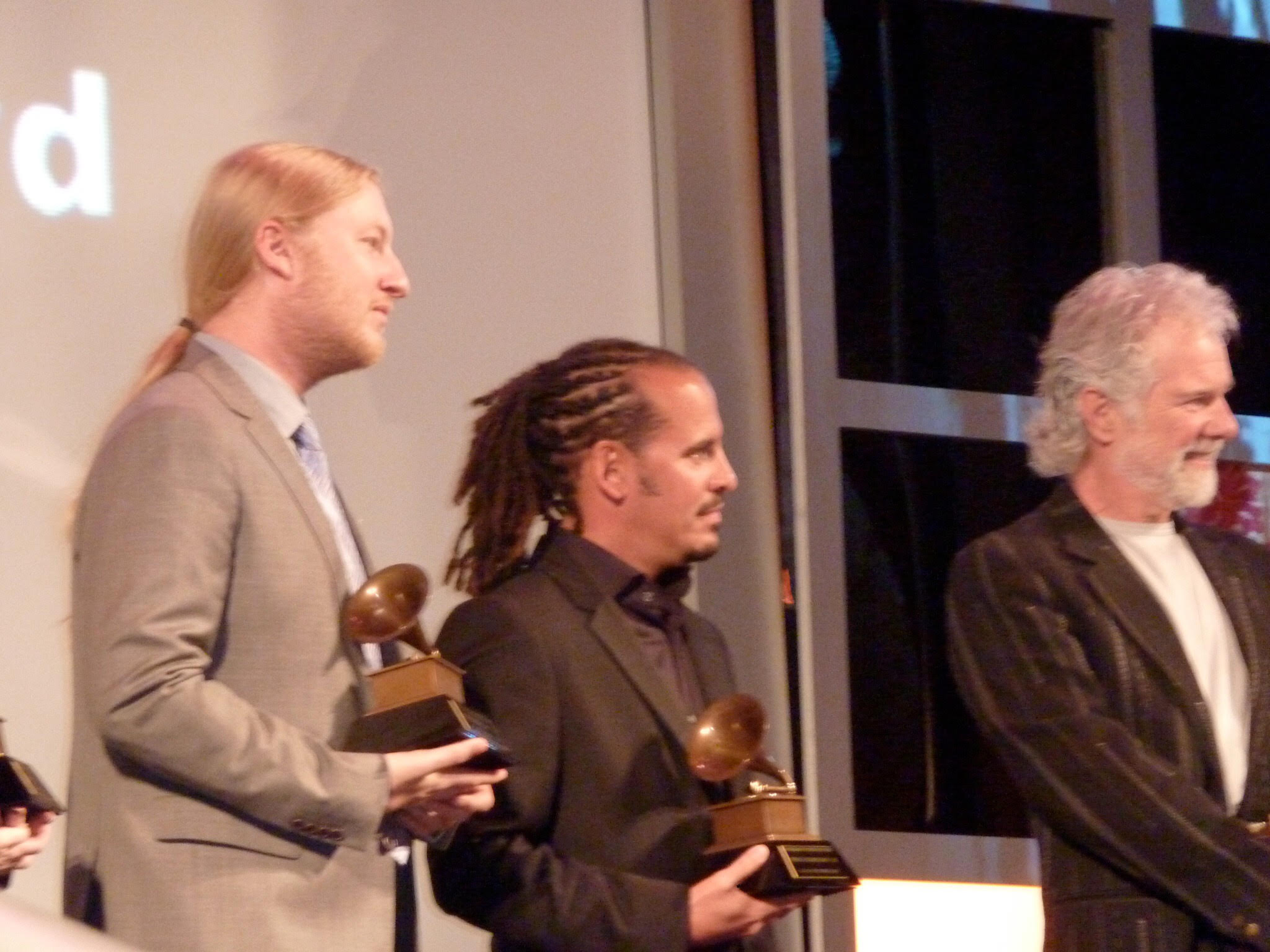 Receiving the lifetime acheivement award with the Allman Brothers.