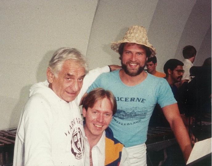 Neil with Leonard Bernstein