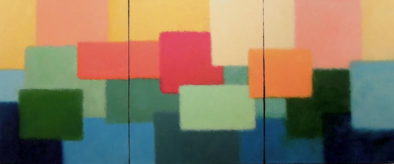 Layers #686<br>30x10 (triptych)
