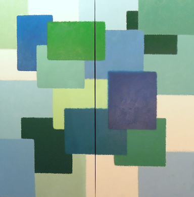 Layers #699<br>60x60 (diptych)