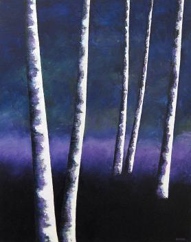 Night Trees #13<br>24x30