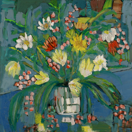 Flowers on the Piano<br>36x36