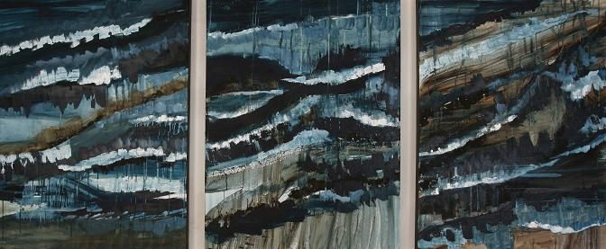 20,000 Feet Above<br>30x120 (triptych)