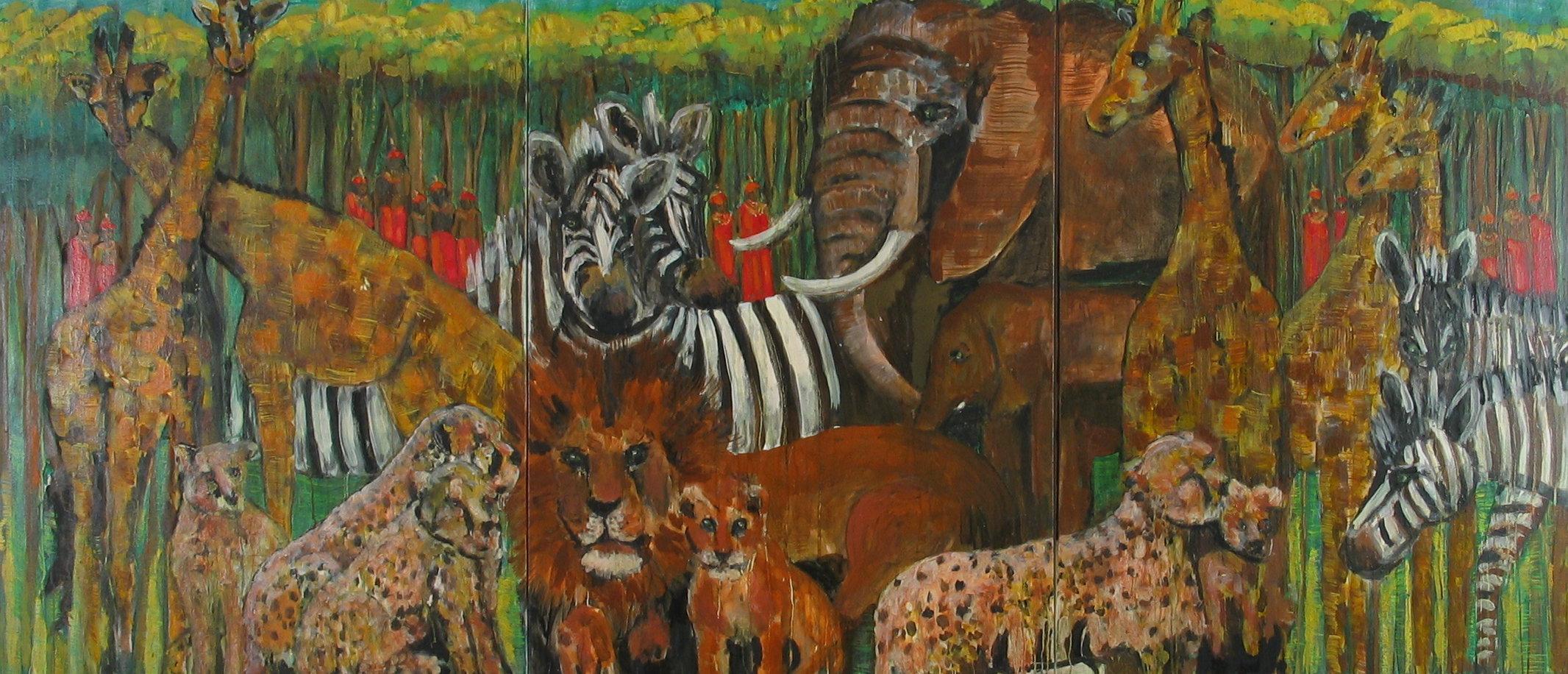 Animals of the Serengeti<br>40x120