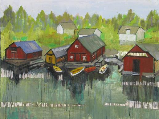 Danish Fishing Village<br>30x40