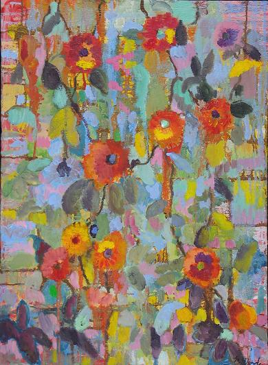 Flowers on a Wall<br>22x30