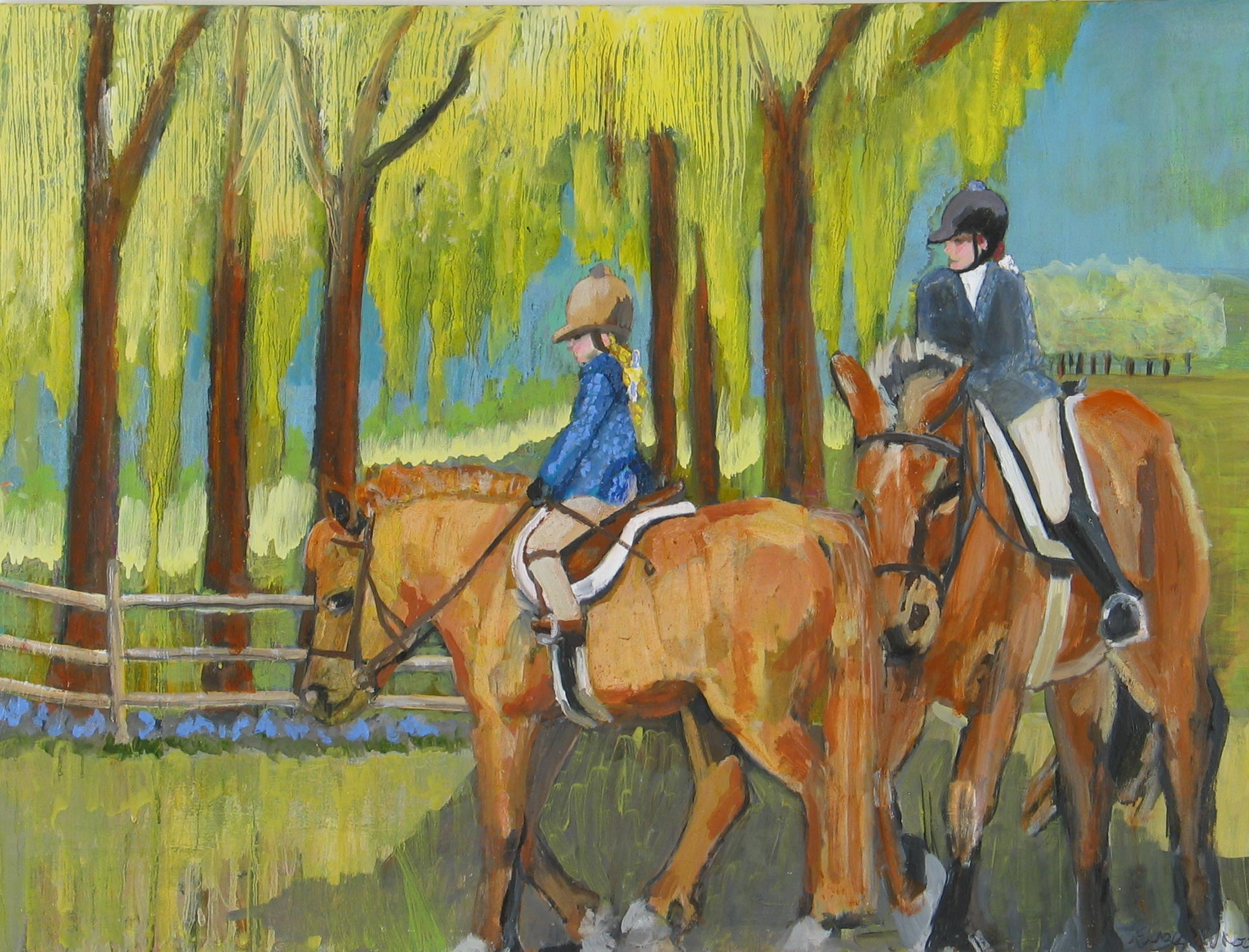 The Riding Lesson<br>30x40