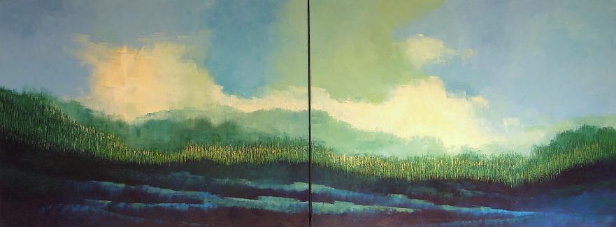 Landscape #609<br>30x80 (diptych)