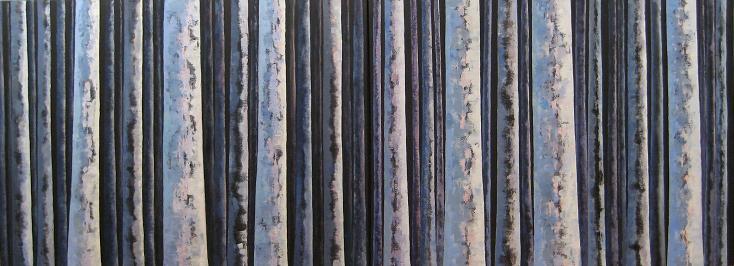 Night Trees #2<br>30x80 (diptych)