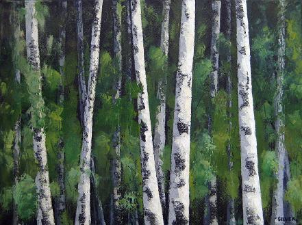 Night Trees #14<br>12x16