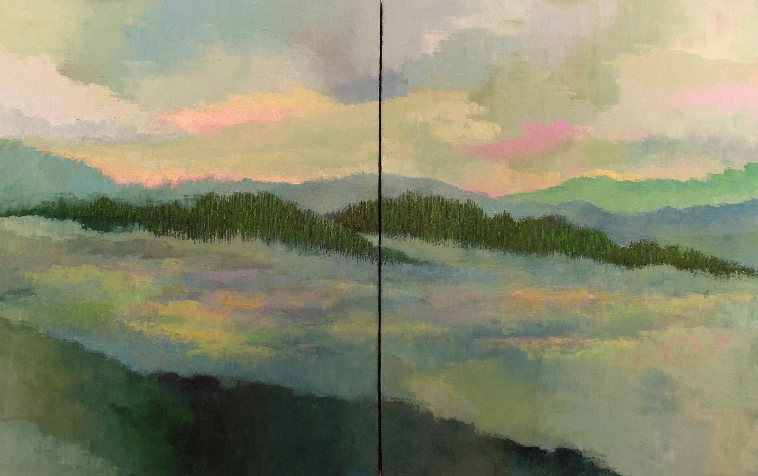 Landscape #694<br>30 X 48 (diptych)