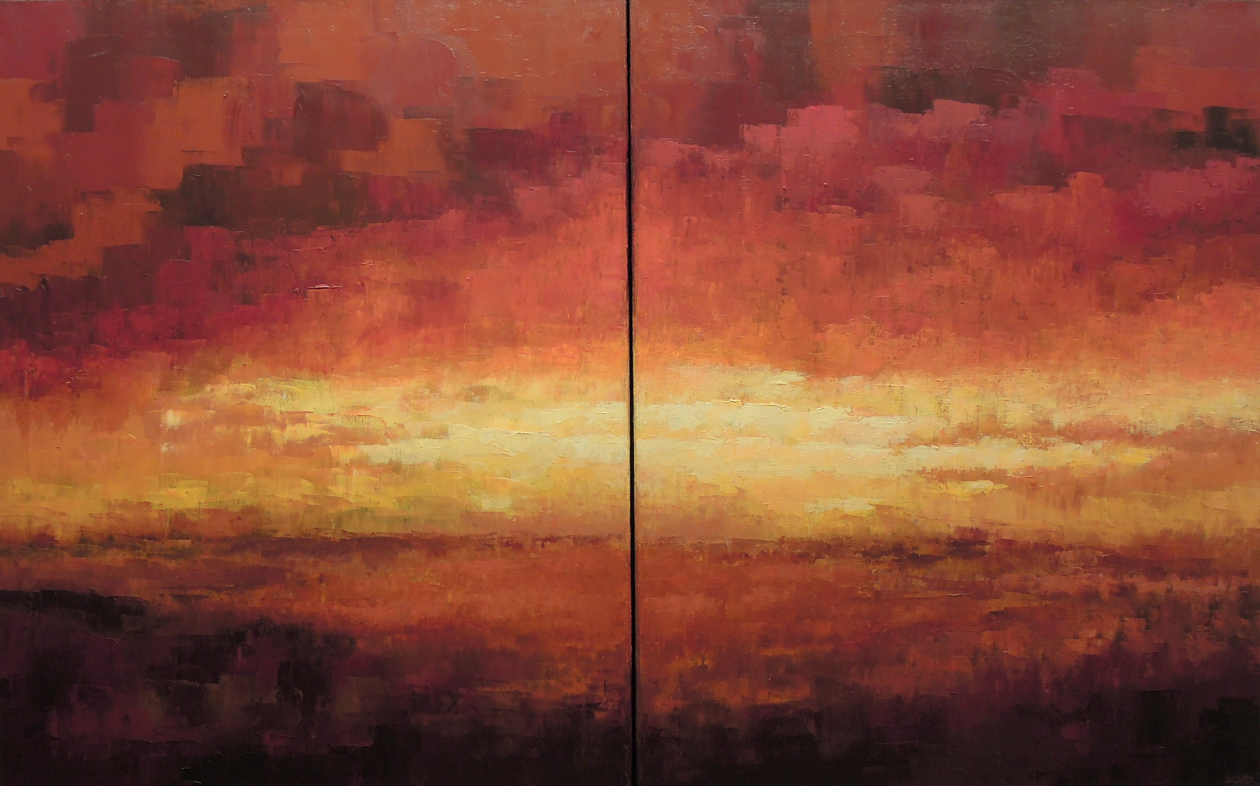 Copy of Landscape #706<br>30 X 48 (diptych)
