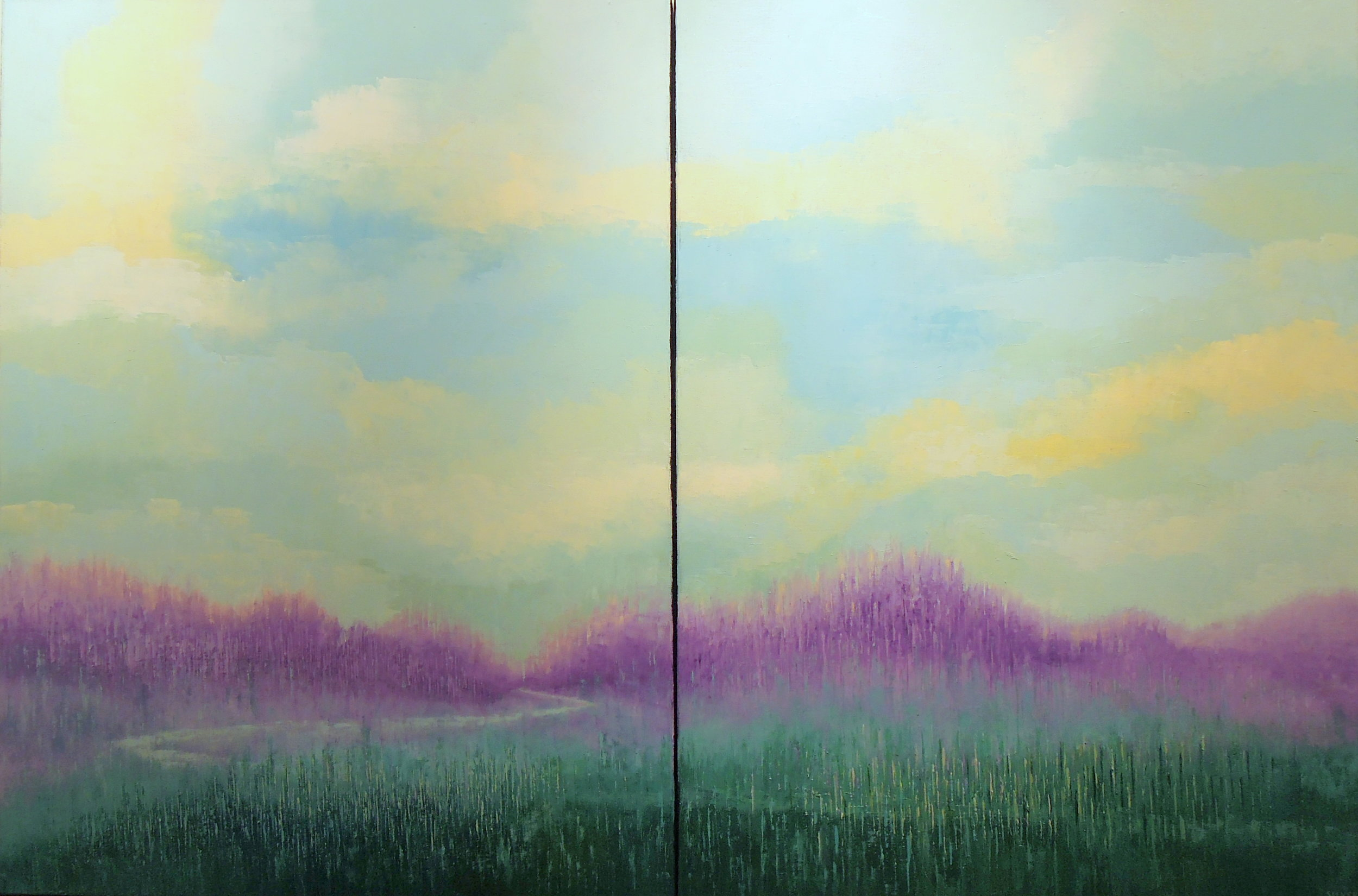 Copy of Landscape #731<br>40 X 60 (diptych)
