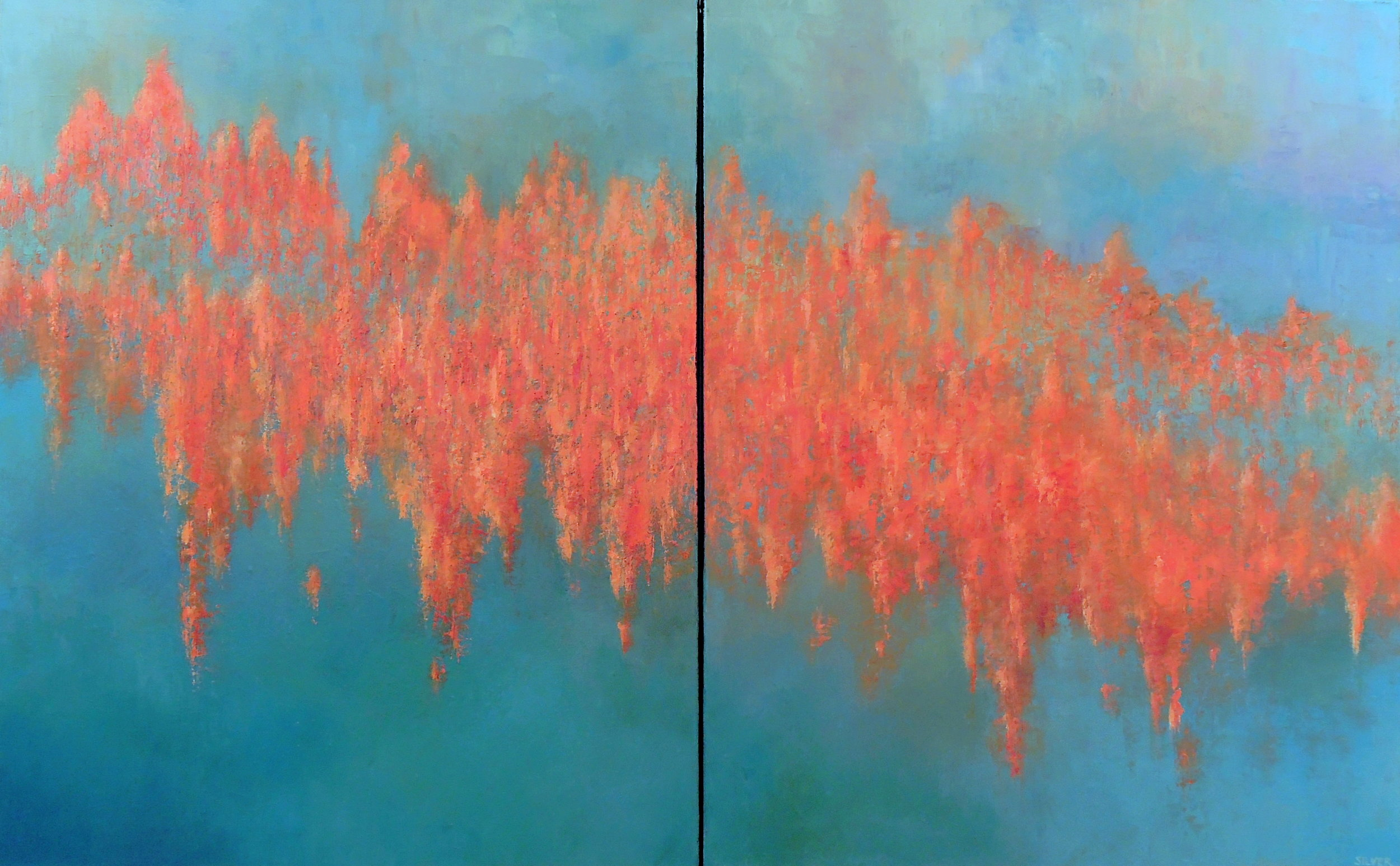 Copy of Landscape #743<br>30 X 48 (diptych)