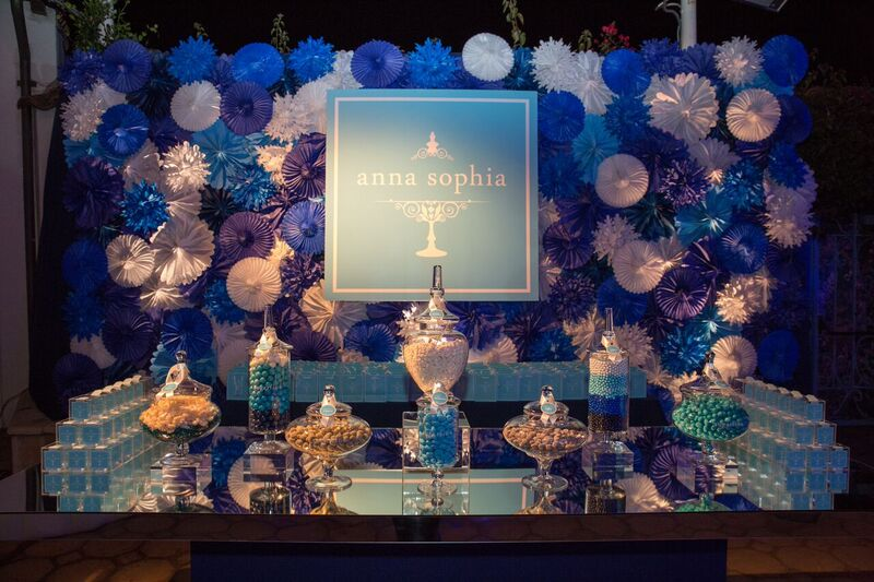 A Sugarfina inspired candy bar along with a Sugarfina-inspired Bat Mitzvah Logo from  www.soevents.com