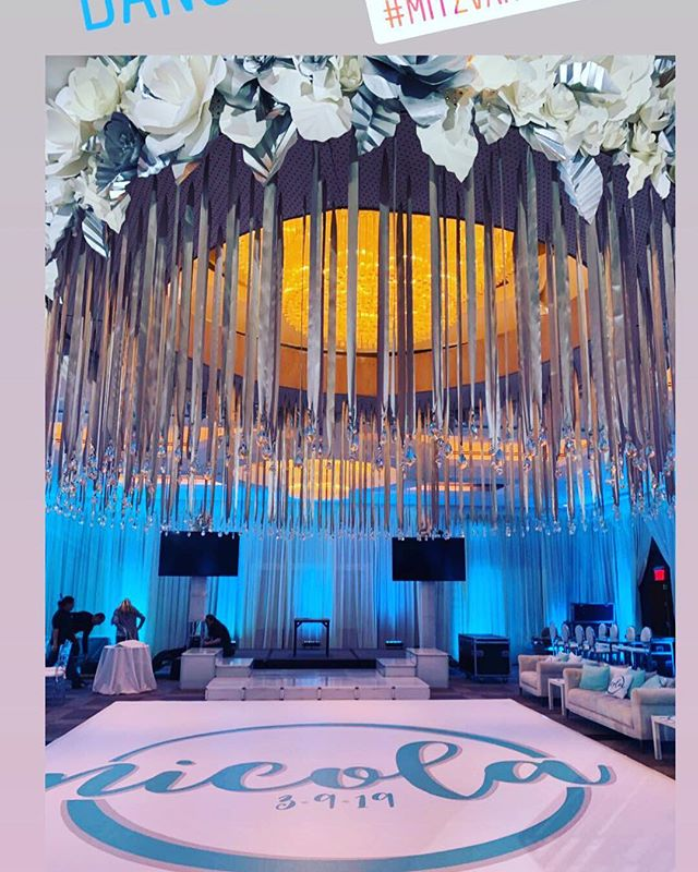 Always love seeing what my clients do with their Mitzvah Logos #mitzvahmonday #celebrationinspiration #batmitzvah #batmitzvahlogo #dancefloor #mitzvahlife #favoritethings