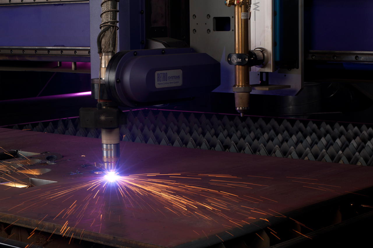 Plasma Cutting - Cuts hard metals with absolute precision for any metal decorations, mechanical parts made of metal, and anything other custom designed products you need metal cut for.