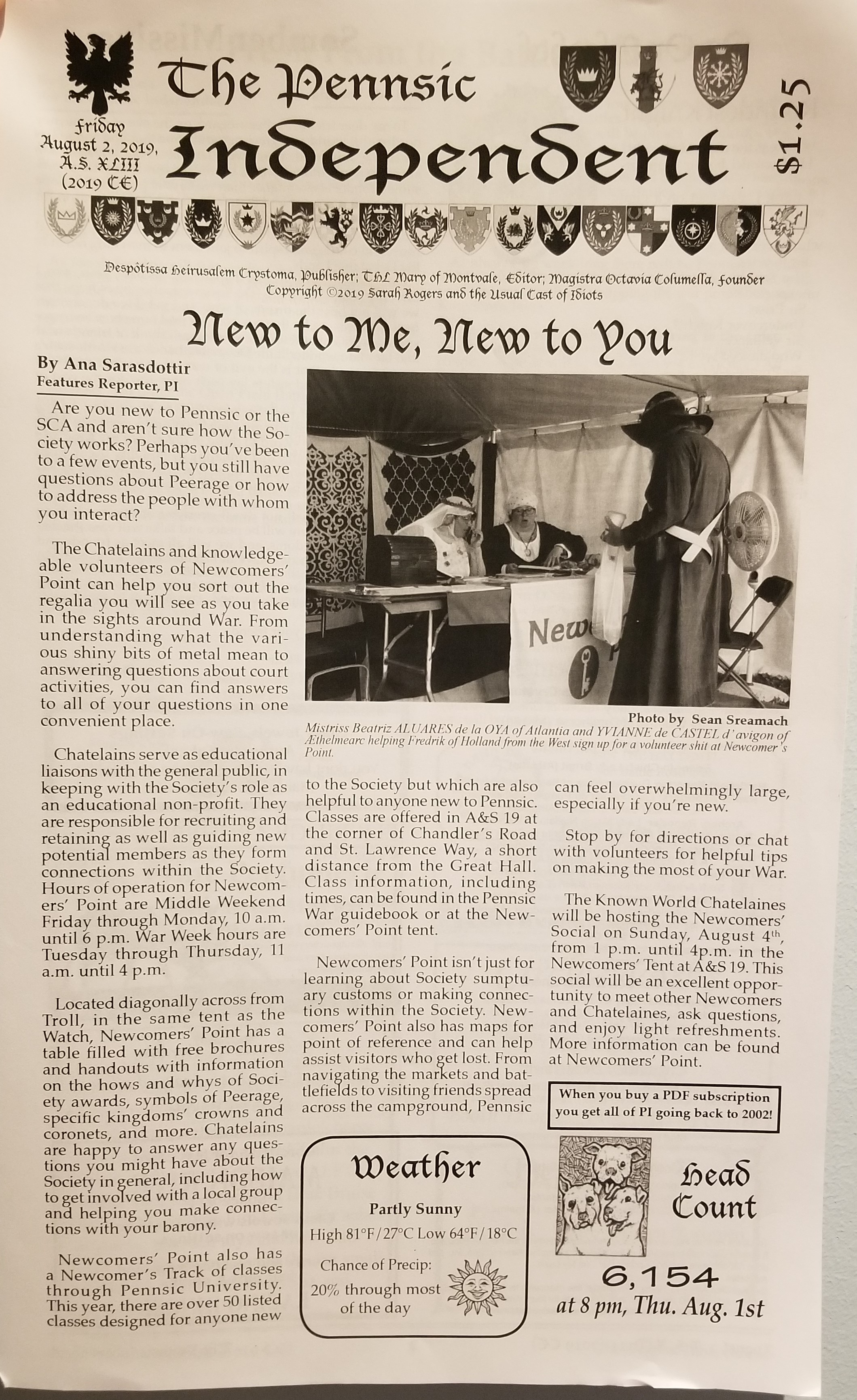 Pennsic Independent, Friday August 2st, 2019