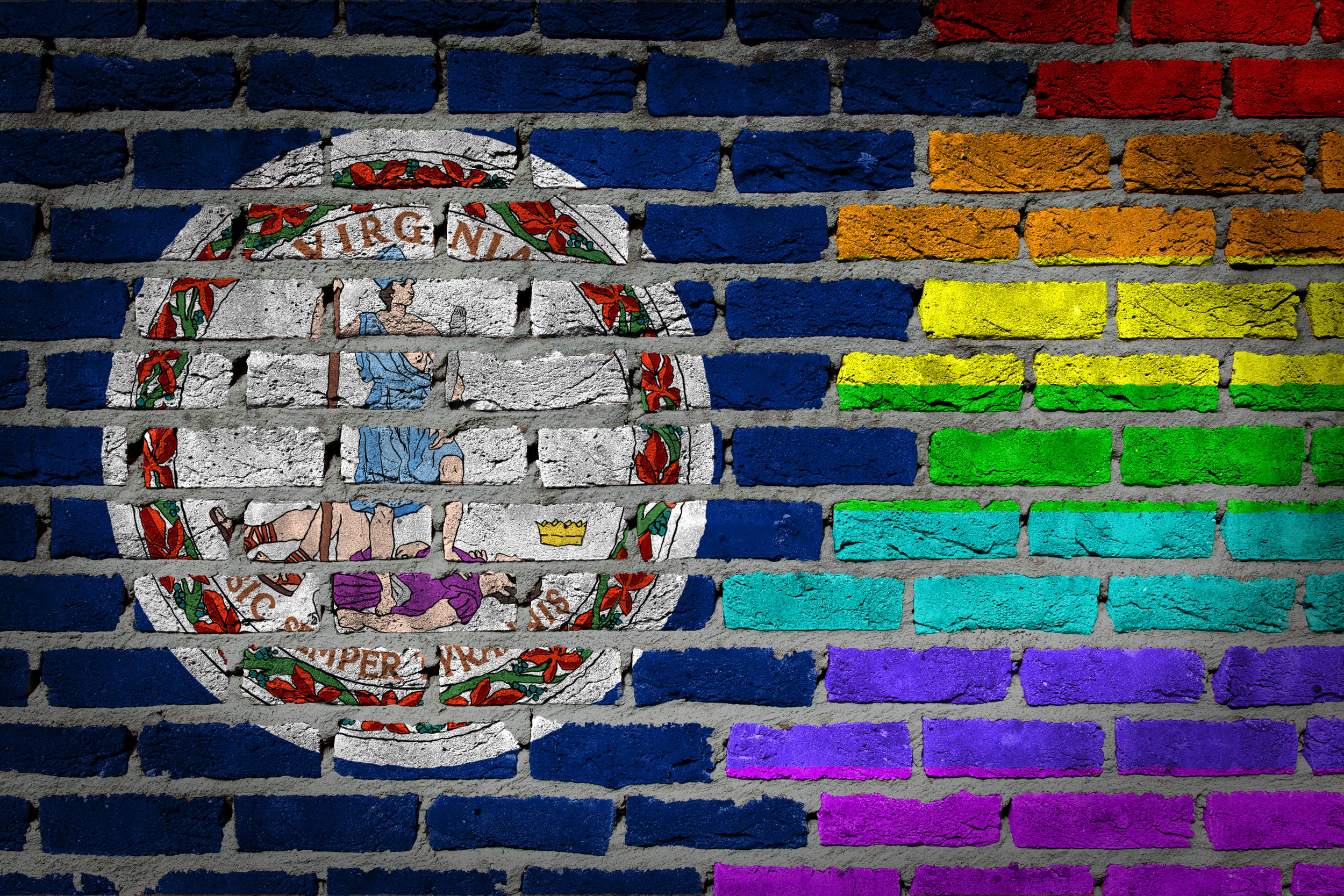 Dark brick wall - LGBT rights - Virginia